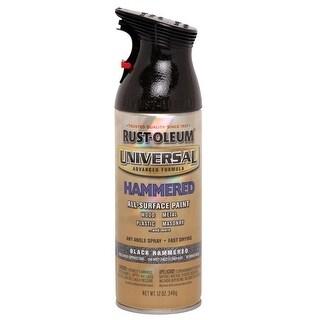 Rust-Oleum 245217 Universal Advance Formula Spray Paint, Black Hammered, 12-Oz.