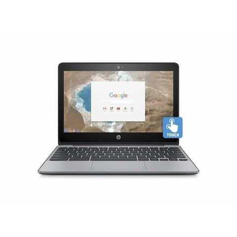 HP Chromebook 11-v032nr 11.6 in 4GB RAM 16GB eMMC Laptop - Ash Gray (R)