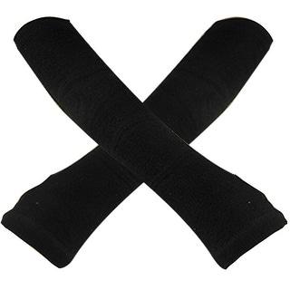Unique Bargains Women Stretch Fingerless Gloves Arm Warmers Black 2 Pcs