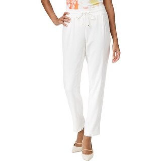 Calvin Klein Womens Trouser Pants Straight-Leg Drawstring