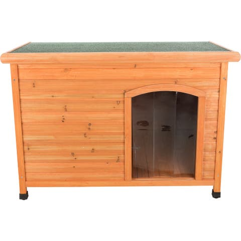 """TRIXIE Natura Insulated Flat Roof Club Dog House Brown L - 31"""" x 46"""" x 32.5"""""""