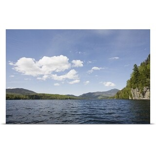 Poster Print entitled USA, New York State, Adirondack Mountains, Lake Placid