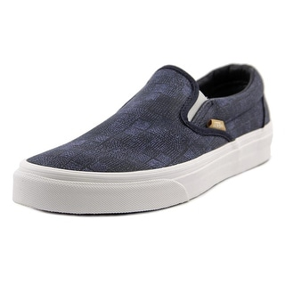 Vans Classic Slip-On Women Canvas Blue Fashion Sneakers
