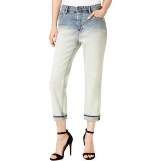 Armani Jeans Womens Boyfriend Jeans Denim Dip Dye - 28