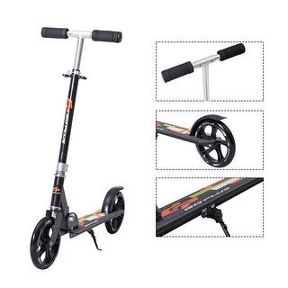 Goplus Foldable Aluminum Adults Kids Kick Scooter Height Adjustable w Kickstand Black|https://ak1.ostkcdn.com/images/products/is/images/direct/607508ea076b8bf519ef2a67c67da27905eae5c7/Goplus-Foldable-Aluminum-Adults-Kids-Kick-Scooter-Height-Adjustable-w-Kickstand-Black.jpg?impolicy=medium