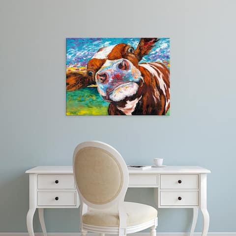 Easy Art Prints Carolee Vitaletti's 'Curious Cow I' Premium Canvas Art
