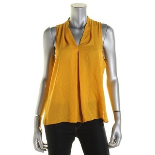 Vince Camuto Womens Georgette V-Neck Blouse