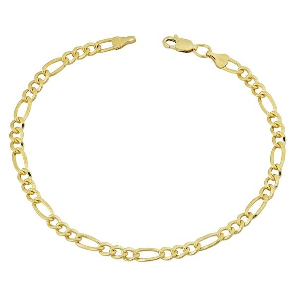 Fremada 14k Yellow Gold-filled Figaro Link Bracelet (8.5 inch). Opens flyout.