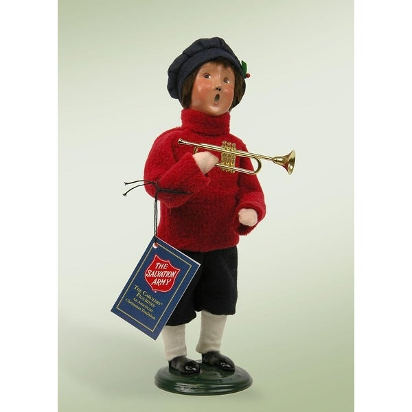 "10"" Salvation Army Carolers Boy with Cornet Christmas Figure"