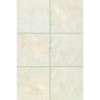 Shop Mohawk Industries Chiara Cream Ceramic Floor Tile - 16 inch ceramic floor tile