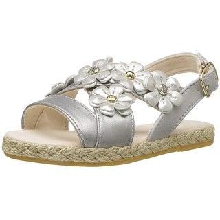 Ugg Baby Girl T Allairey Shimmer Buckle Sandals - 10 US Kids