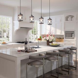 """LNC Modern Farmhouse 1-Light Geometric Mini Pendant Lighting Ceiling Light Fixture - D5""""x H7.9"""""""