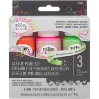 Testors Craft Acrylic Paint Set 3/Pkg-Glow