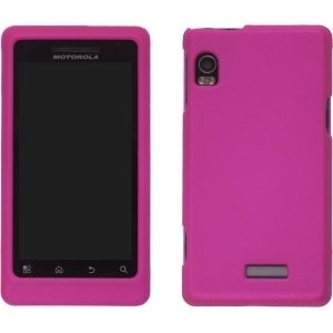 Hot Pink Soft Touch Snap On Case for Motorola A954, A955, A956, A957, Droid 2