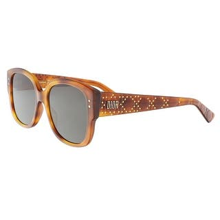 81b069c4f4b3 Christian Dior LADYDIORSTUDS 0SX7 Light Havana Square Sunglasses - 54-18-140