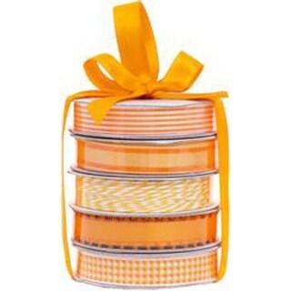 Spring Orange - American Crafts Premium Ribbon & Twine 5-Packs