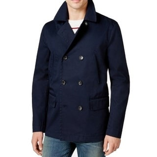 Tommy Hilfiger NEW Blue Mens Size XL Double Breasted Peacoat Jacket