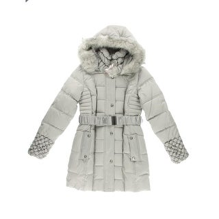 Betsey Johnson Womens Quilted Long Sleeves Puffer Coat