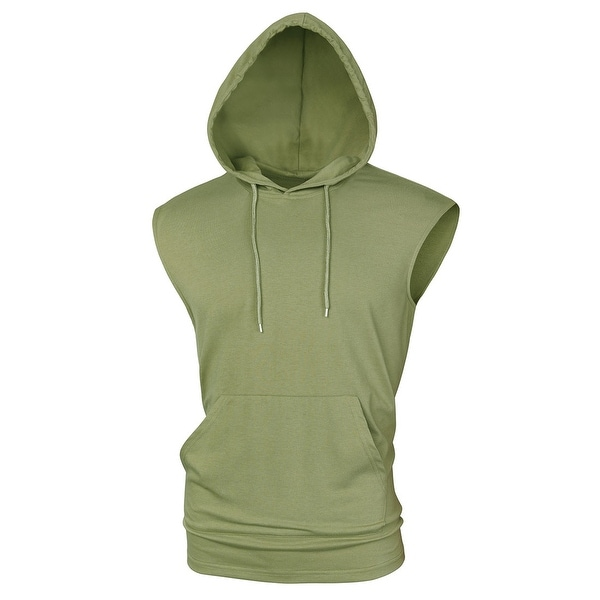 Men's Tank Tops with Hoods Gym Muscle Shirts Sleeveless Hoodie. Opens flyout.