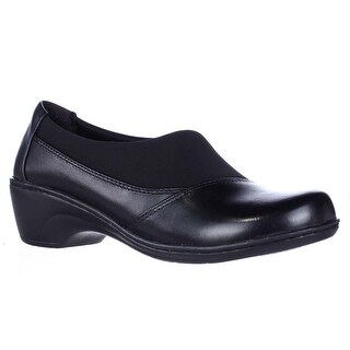 Clarks Channing Enna Slip-On Loafer Shoes - Black