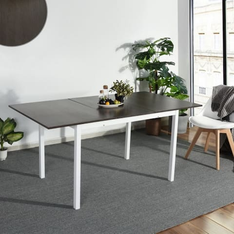 """63"""" Extendable Rectangle Dining Table Grey - dining table"""