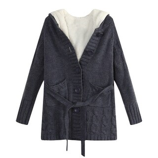 Richie House Girls' Cardigan Sweater with Short Floss Lining