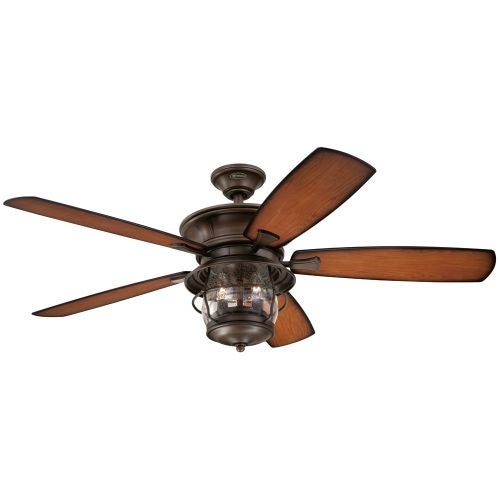 "Westinghouse 7800000 Brentford 52"" 5 Blade Hanging Indoor Ceiling Fan with Blades, Light Kit, and Down Rod Included"