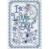"""5""""X7"""" 14 Count - To The Moon Counted Cross Stitch Kit"""