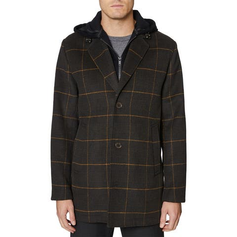 Hickey Freeman Hybrid Wool-Blend Coat