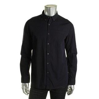 Kenneth Cole Reaction Mens Cotton Textured Button-Down Shirt - XL