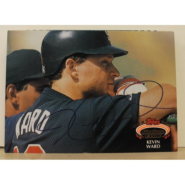 Kevin Ward San Diego Padres Autographed 1992 Stadium Club Card 853 This Item Comes With A Certifica