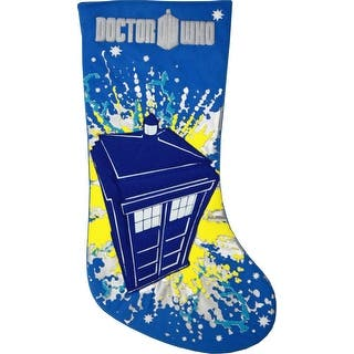 doctor who 19 tardis applique stocking