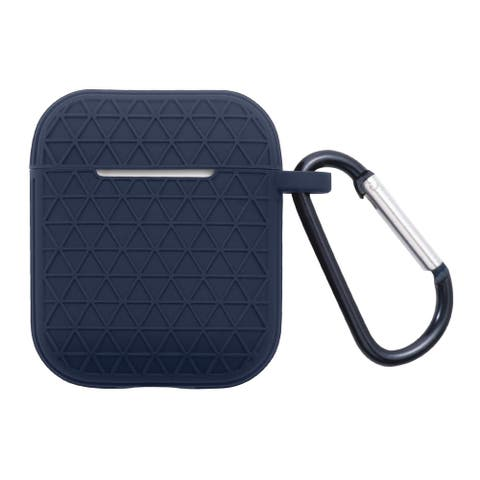 For Apple AirPods 1/AirPods 2 Blue Soft Textured Case Cover
