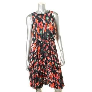 Calvin Klein Womens Casual Dress Pleated Sleeveless