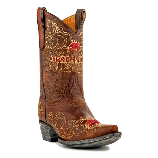 Gameday Boots Womens College Team Texas State Bobcats Brass