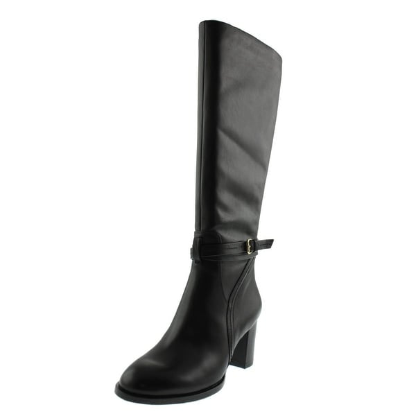 Halston Heritage Womens Hannah Knee-High Boots Leather Round Toe