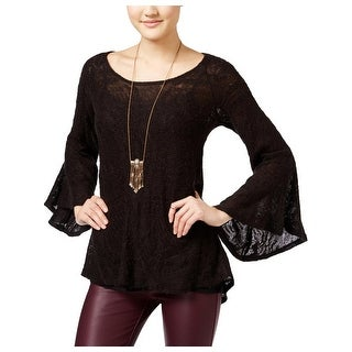 Jessica Simpson Womens Hyne Pullover Sweater Wool Bell Sleeve