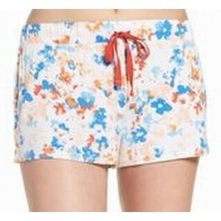 Splendid NEW White Blue Floral Print Large L Lounge Pants Sleep Shorts