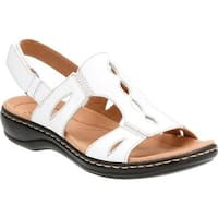 Clarks Women's Leisa Lakelyn Cutout Slingback White Leather
