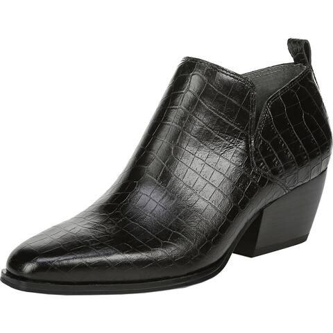 Franco Sarto Womens Dingo 2 Booties Leather Block Heel