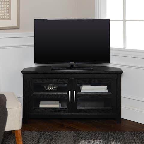 Copper Grove Bow Valley 44-inch Black Corner TV Stand