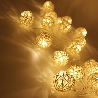 Link to 10ft 20 LED Rattan Ball String Light, String Curtain Lights for Christmas - 1PACK Similar Items in String Lights
