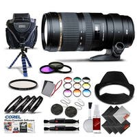 Tamron SP 70-200mm f/2.8 Di VC USD Zoom Lens for Canon International Version (No Warranty) Pro Kit - black
