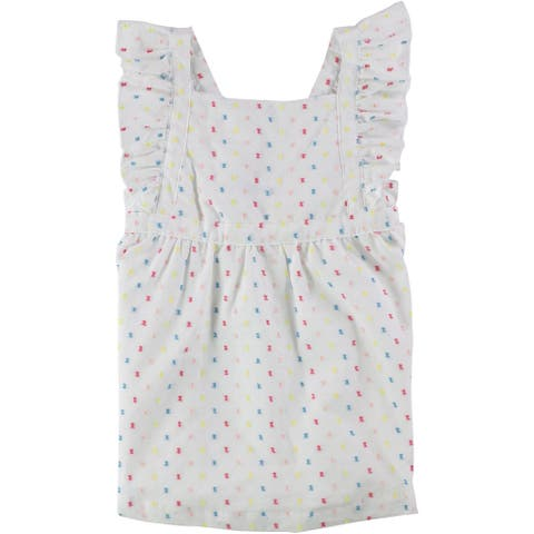 First Impressions Girls Apron A-Line Dress