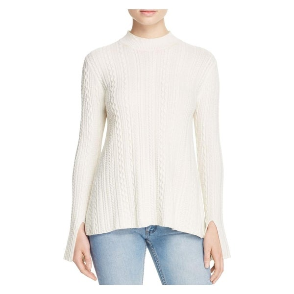 481896e1f1 Shop Theory Womens Sweater Cable Knit Mock Neck - Free Shipping On Orders  Over $45 - Overstock - 17492999
