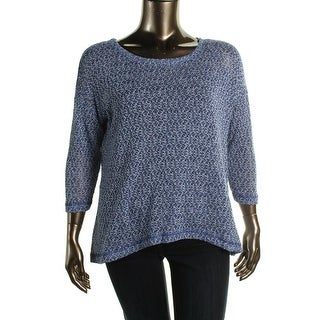 Nally & Millie Womens Knit Marled Pullover Sweater - L