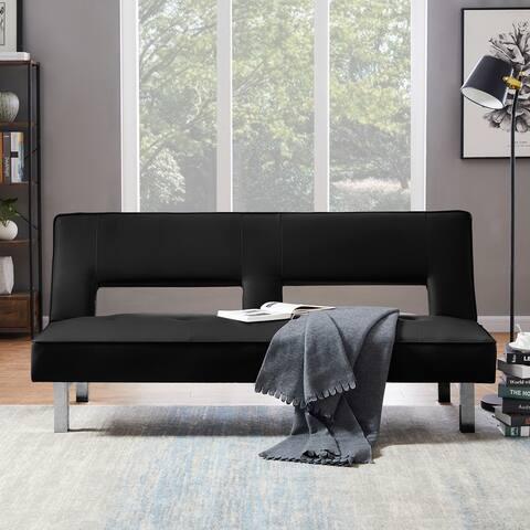 PU Black Sofa Bed Sleeper