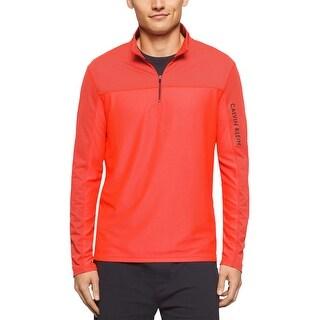 Calvin Klein Performance Textured Sweatshirt Atomic Orange X-Large
