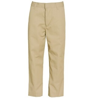 Authentic Galaxy Little Boys Khaki Button Detail School Uniform Pants