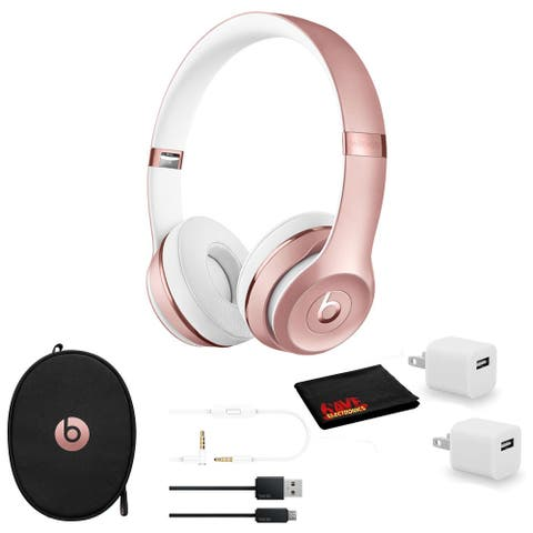 Beats Solo3 Wireless Headphones (Rose Gold) - Kit with USB Adapter